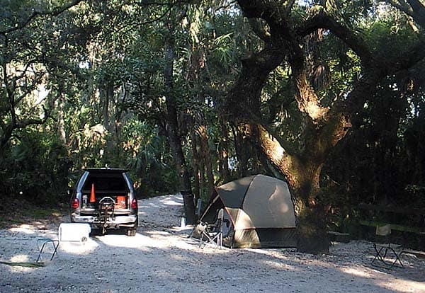 Campsite at Lithia Springs Park near Tampa