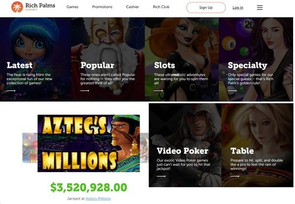 Rich Palms Casino RTG Slots Software