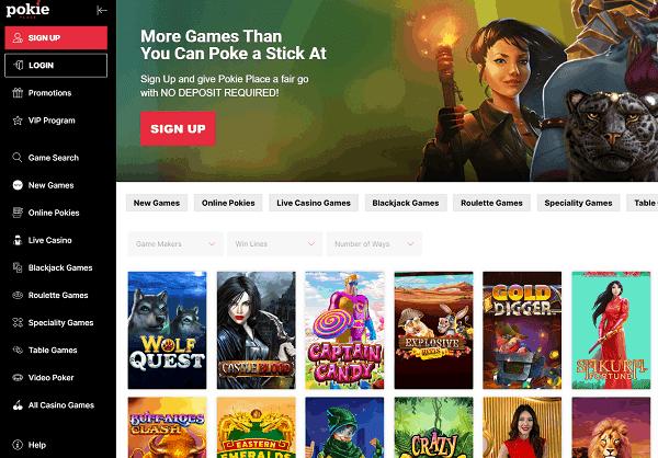 Pokie Place Online Casino Website