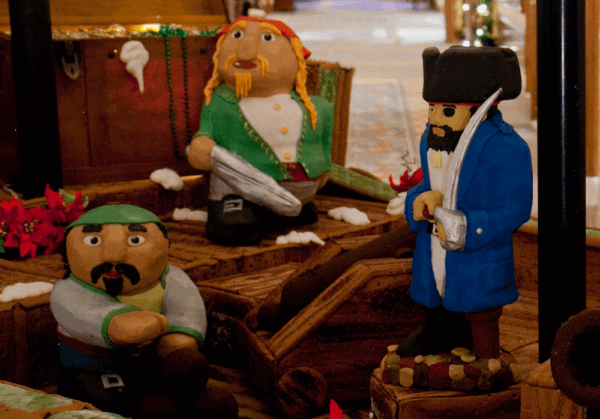 3 of the fondant pirates who will be hiding in the four seasons hotel on amelia island this holiday season.