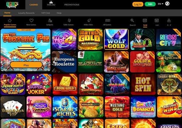 Spin Million Online Casino Full Review