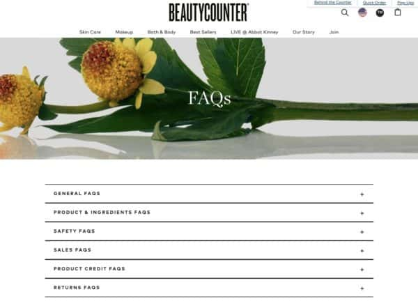 BeautyCounter - FAQ