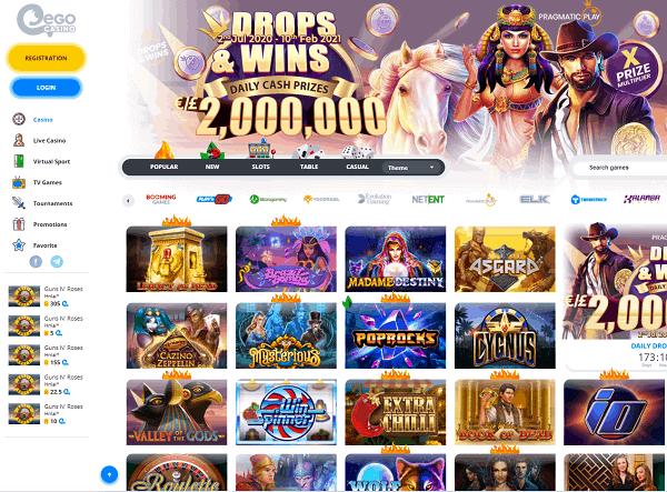 Ego Casino website review
