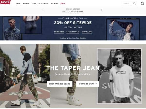Levi's | Top President's Day Sales | OPAS