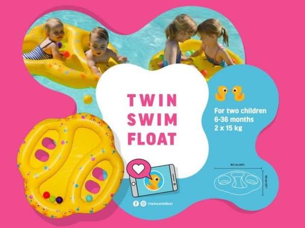 Twin Swim Float - Duo Float - Double Float - Tweeling Zwemband - TwinSwimFloat