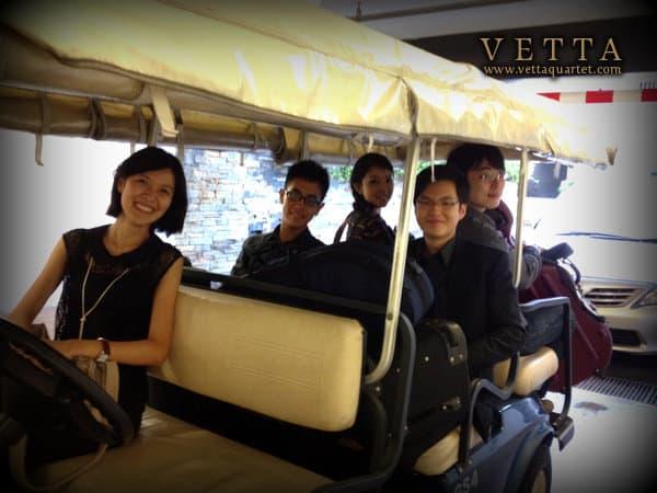 String Quartet on a buggy
