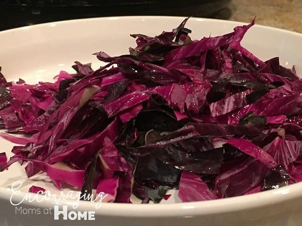 Rough Chop Red Cabbage