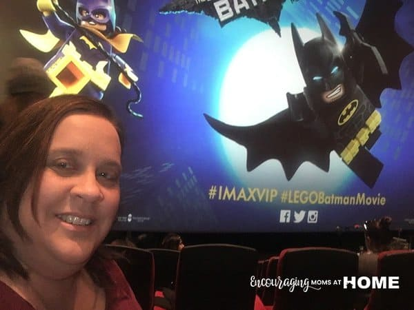 Amy at the LEGO Batman Movie and her review