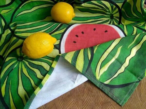 watermelons tea towel