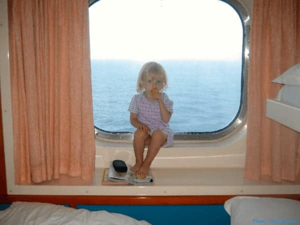 Having a window is a nice plus in a cruise ship cabin