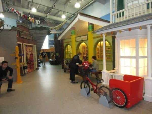 The childrens museum of the east end is all about pretend play, like this mock up of a main street
