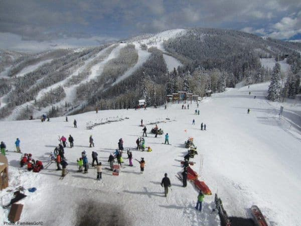 The ski mountain at steamboat springs