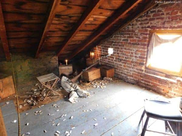 The attic at the shriver house hid confederate sharp shooters