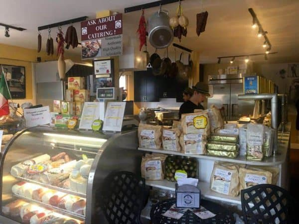 The deli counter at dinapoli's in lambertsville