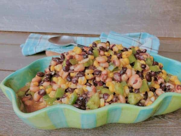 This southwestern 2-been salad is a great barbecu side and will keep vegans happy.