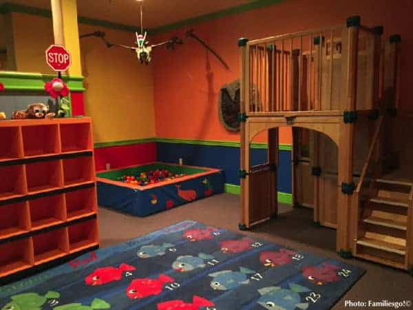 The kids club at the nemacolin woodlands has plenty of room to play.