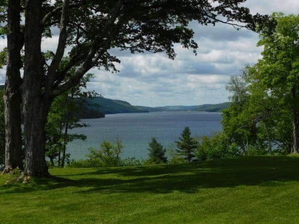 A view of the length of Otsego Lake from Glimmerglass State Park,