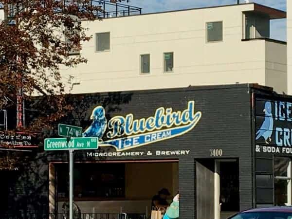 Bluebird microbrewery and creamery in phinney ridge, seattle.