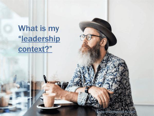 businessman pondering his leadership context