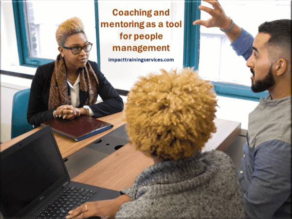 image showing coaching and mentoring as a tool for people management