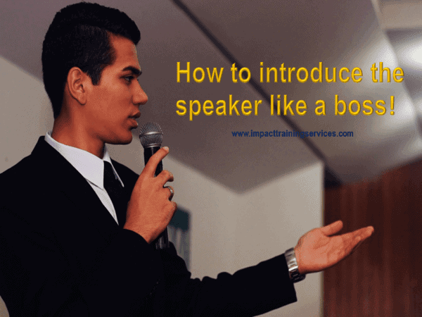 cover image for how to introduce the speaker like a boss