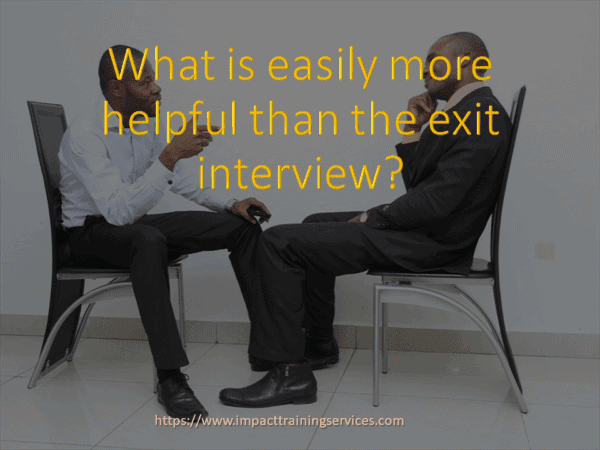 cover image for what is more helpful than the exit interview