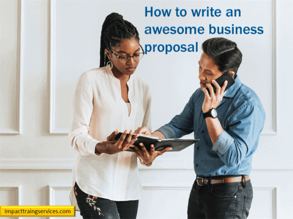 cover image for how to write an awesome business proposal