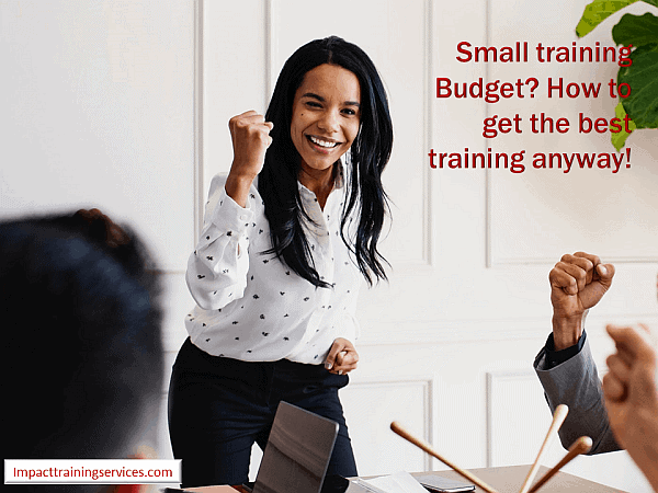 cover image for small training budget