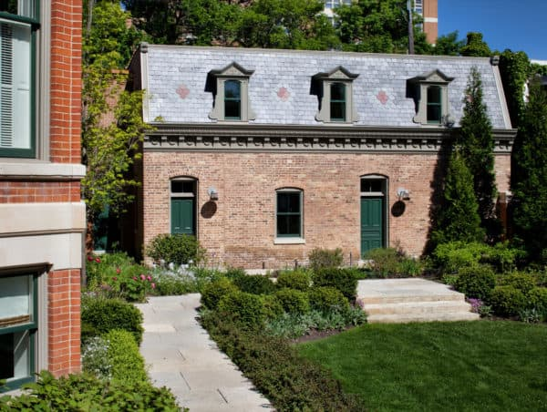 the best traditional italian style red brick house featuring beautiful grayish blue tile roof color