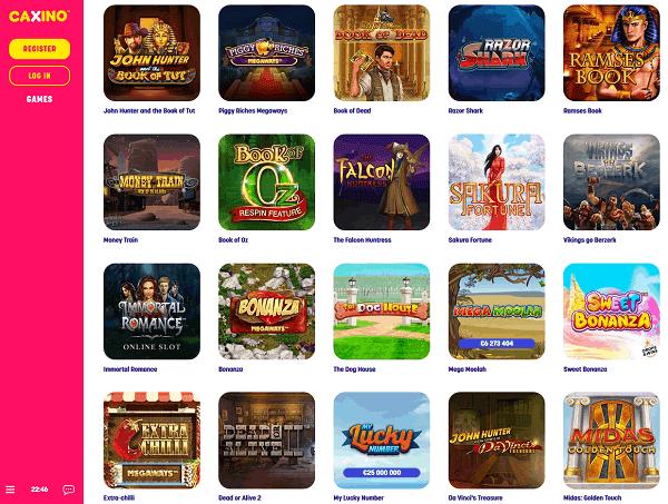 Caxino Casino website review