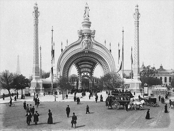 The Porte Monumentale, entry of the Exposition Universelle of 1900, Paris.