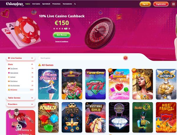 Gransino Casino Website Review