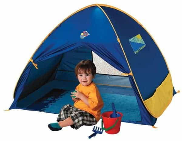 Baby Beach Tent, portable sun shelter, baby beach gear, infant sun shade, infant beach tent