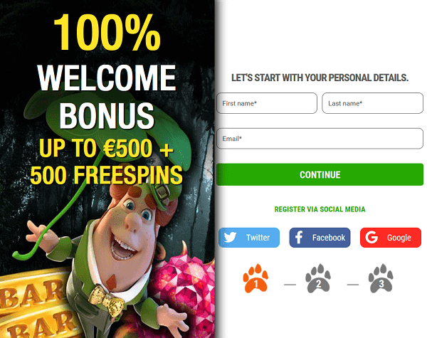 100% bonus and 500 free spins to Big 5 Casino