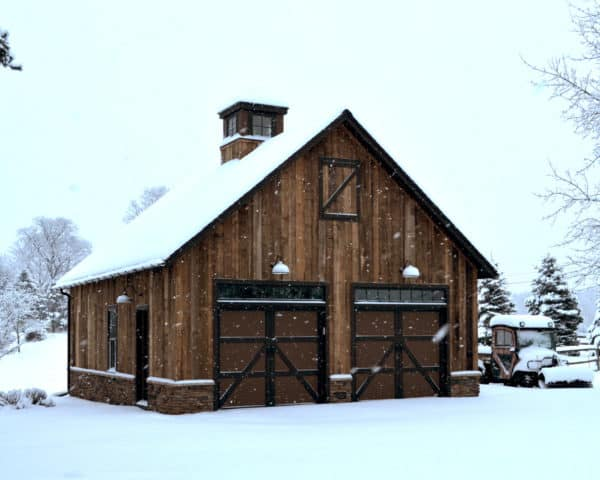 customize wood and metal barn style garage doors for your wood exterior