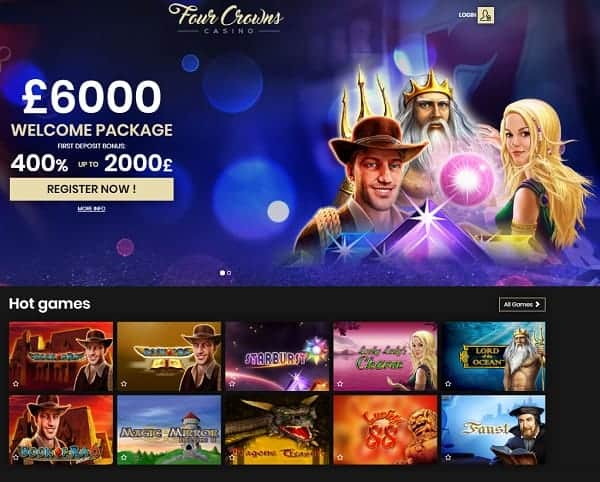 Four Crowns Casino Review & Rating