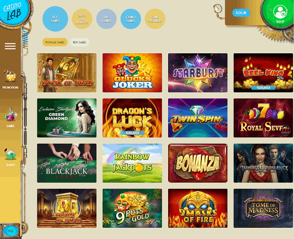 Casino Lab Free Spins & Welcome Bonus