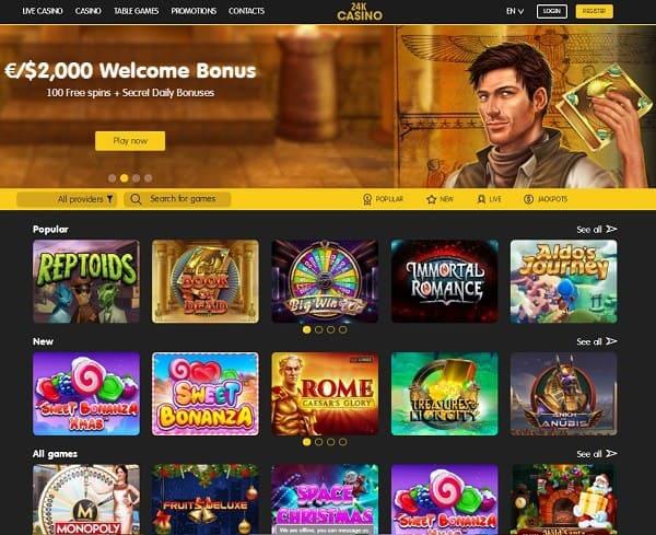 24kCasino.com games and software