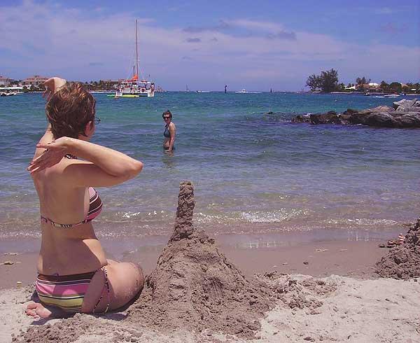 Beach at Peanut Island, Palm Beach, Florida