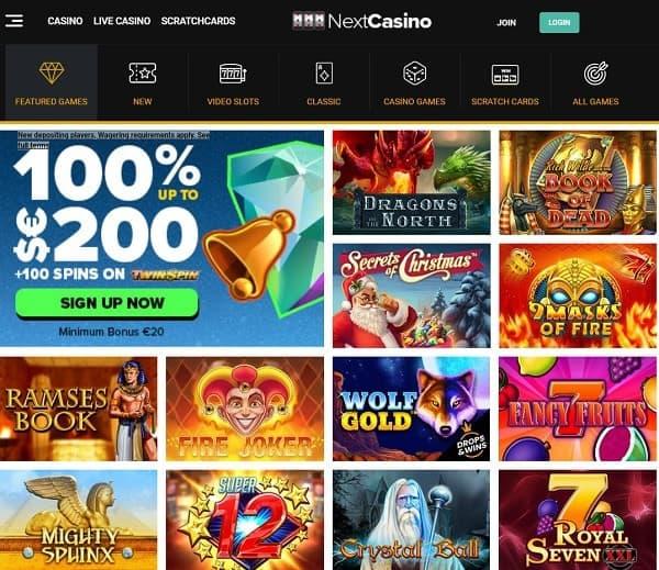 Next Casino Online & Mobile free spins bonus
