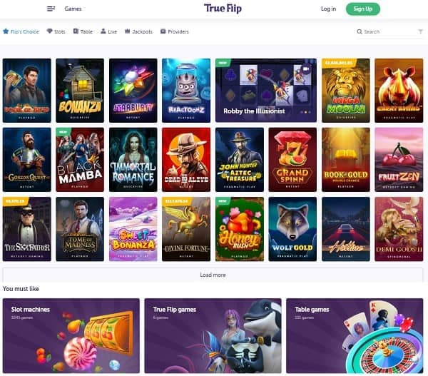 TrueFlip.io Casino Review
