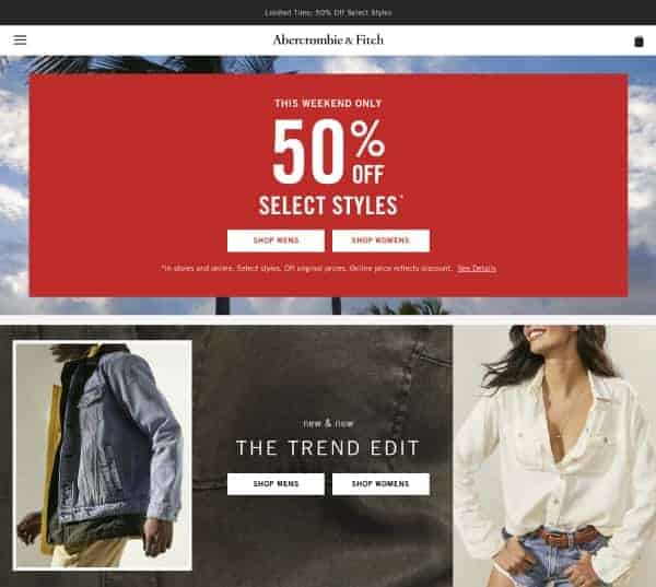 Abercrombie | Top President's Day Sales | OPAS