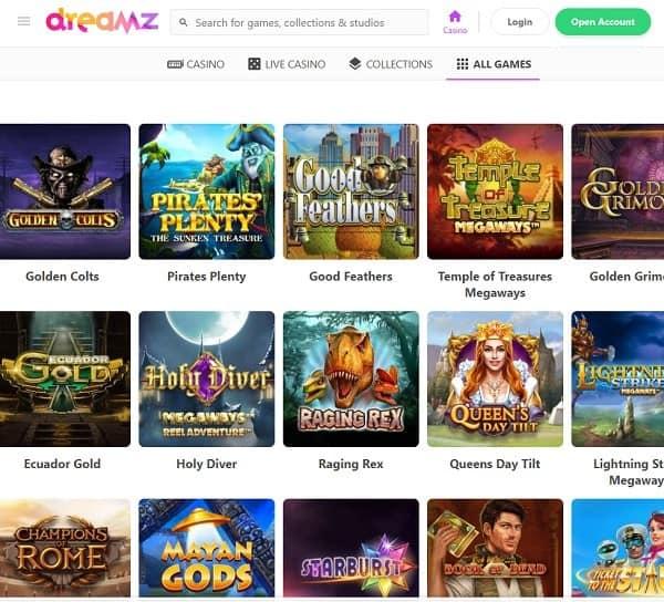 Dreamz Casino welcome bonus