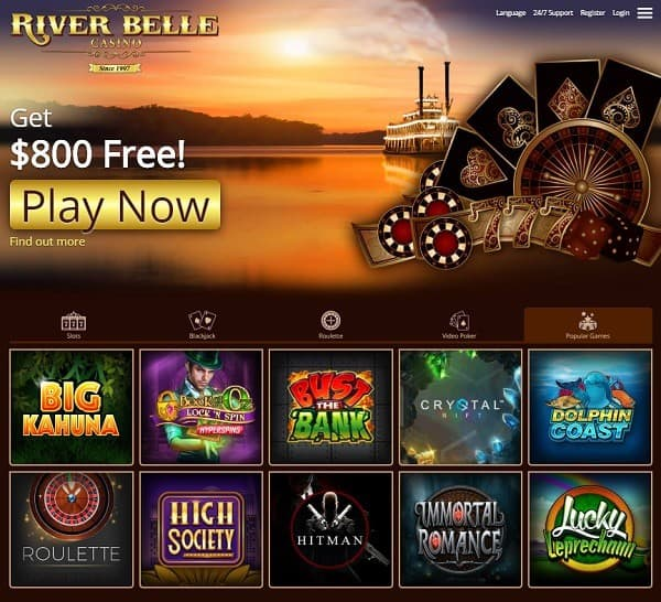 River Belle Casino Review and Rating: 9.5/10.