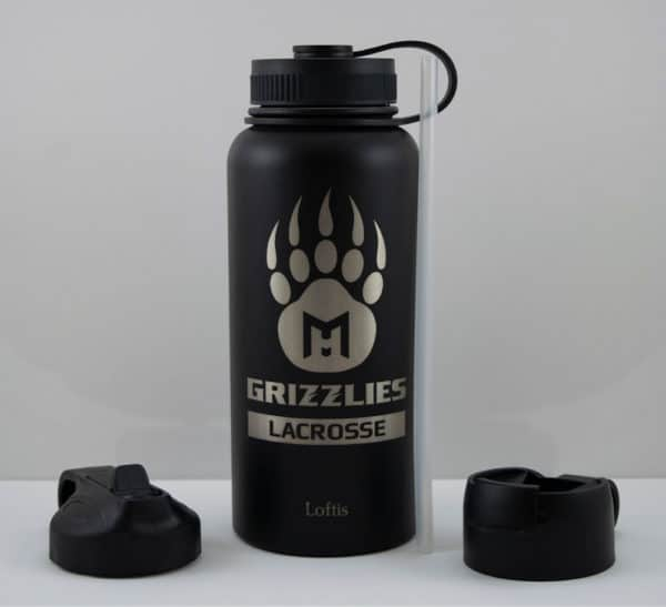 Grizzlies Bottle - 32oz - Grizzly Paw Graphic