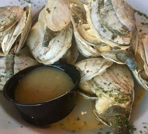 Steamer clams with butter at jerry & the mermaid