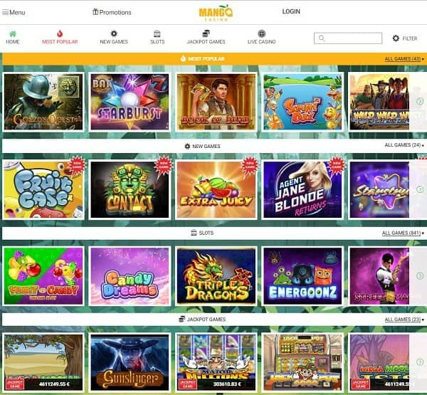 Mango Casino Review and Rating: 9.5/10.