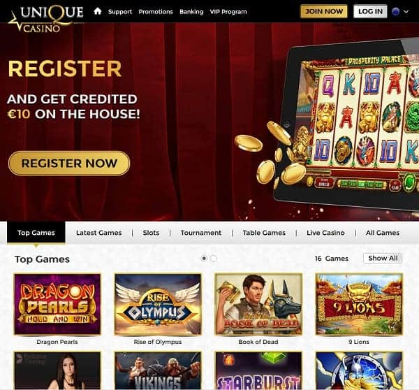Sign up at UniqueCasino.com and play the best online slots!