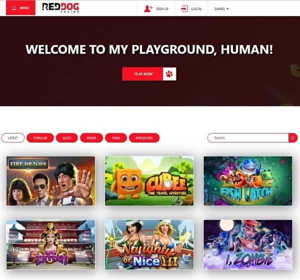 Red Dog Casino Online