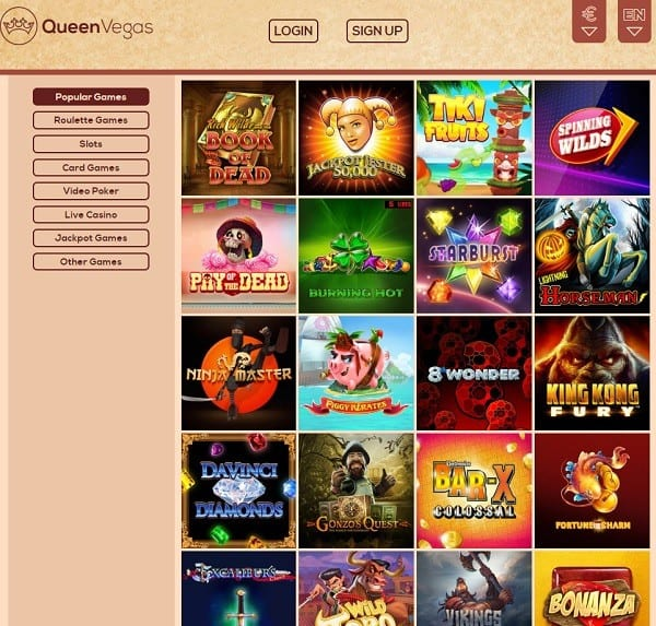 Queen Vegas Casino free play games